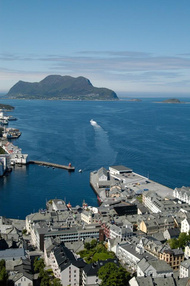 Norwegen - Alesund, Blick vom Aksla