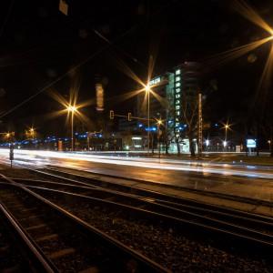 Blaulichtfahrt auf Dresdener Straße in Cottbus