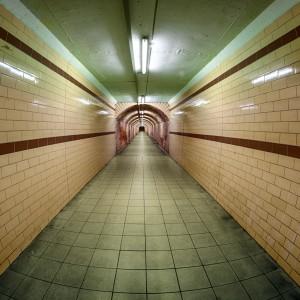 Spreewaldtunnel mit Blick in Richtung Spreewaldbahnhof