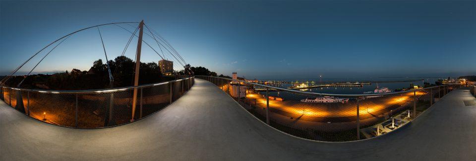 Panorama vom Sassnitzer Hafen