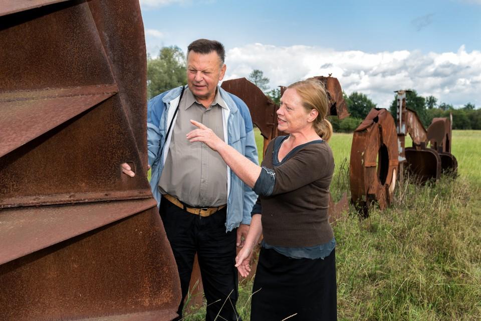 Reinhard Bareinz und Annett Glöckner.