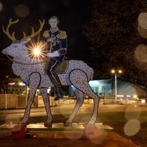 Fürst Pückler auf dem Hirsch im Cottbuser Stadtzentrum
