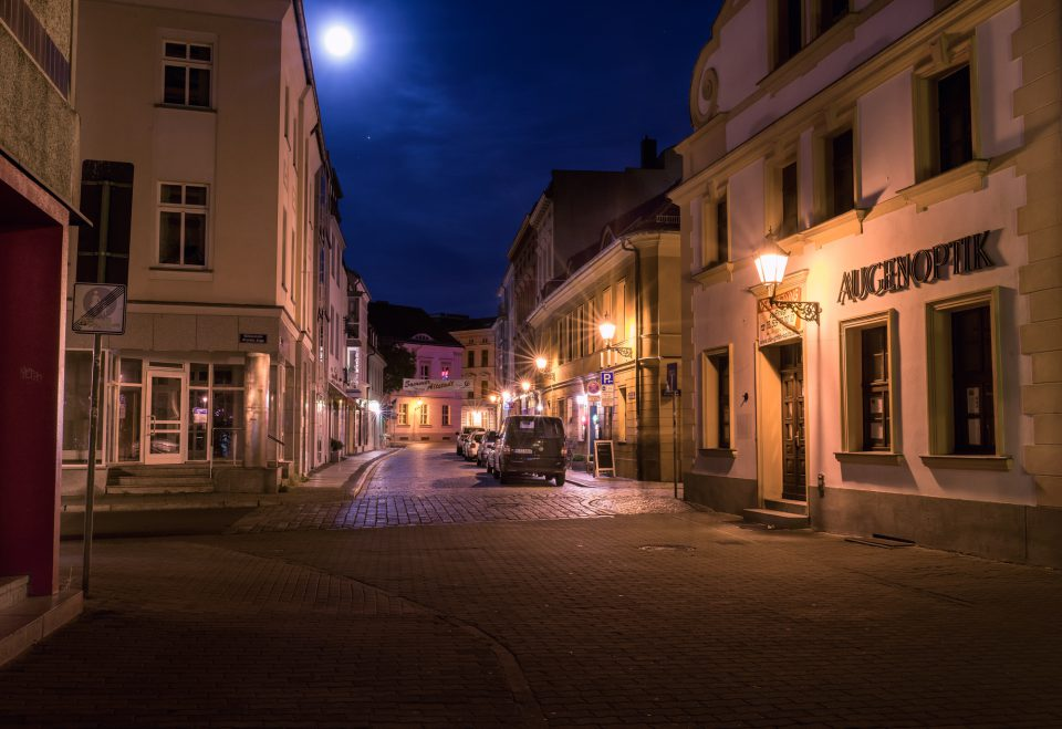 Nachts in Cottbus