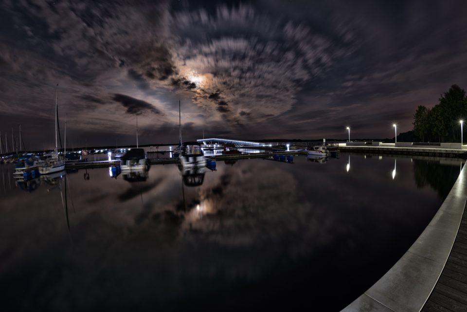 Langzeitbelichtung im Senftenberger Hafen