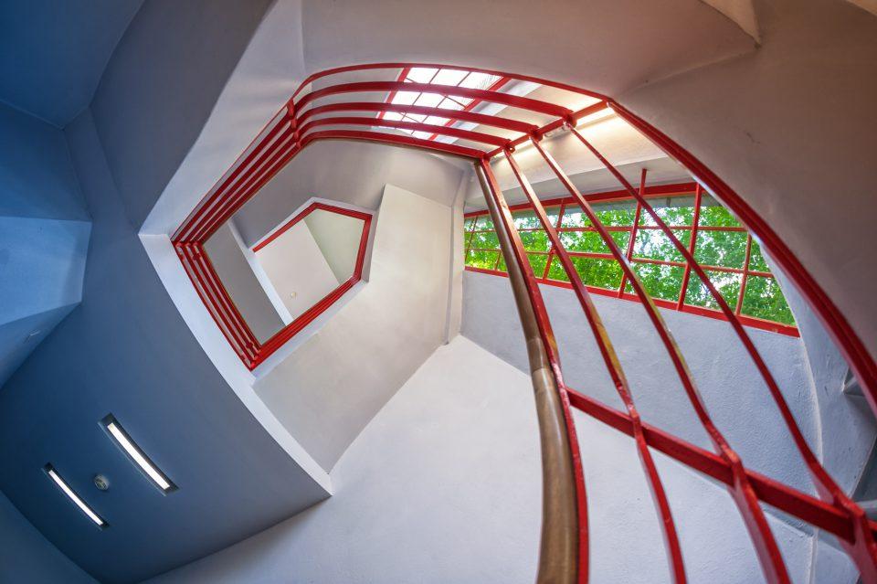 Treppe im Kunstmuseum dkw in Cottbus