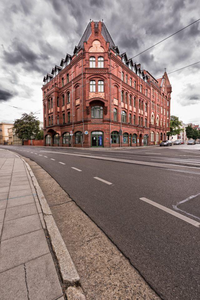 Das frühere Kaufhaus Weiße Taube in der Straße der Jugend